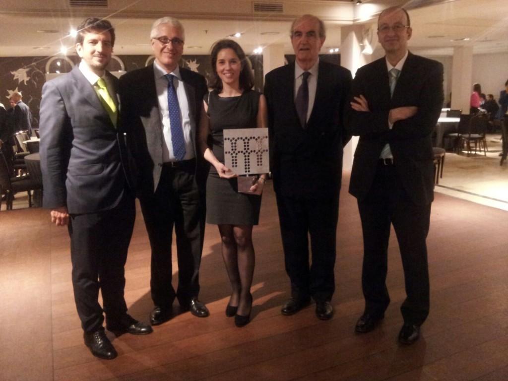 De izquierda a derecha: Juan Antonio Navarro González-Valerio, Antonio Martínez Cutillas, Silvia Fuente García, Javier Manterola Armisén y José Manuel Domínguez. Ingenieros en CFCSL.